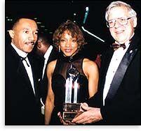 Rev. Heber Jentzsch, NAACP President Kweisi Mfume and Ernestine Peters